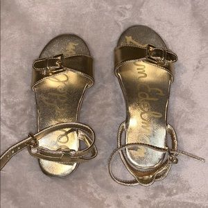 Girls gold Sam Edelman sandals